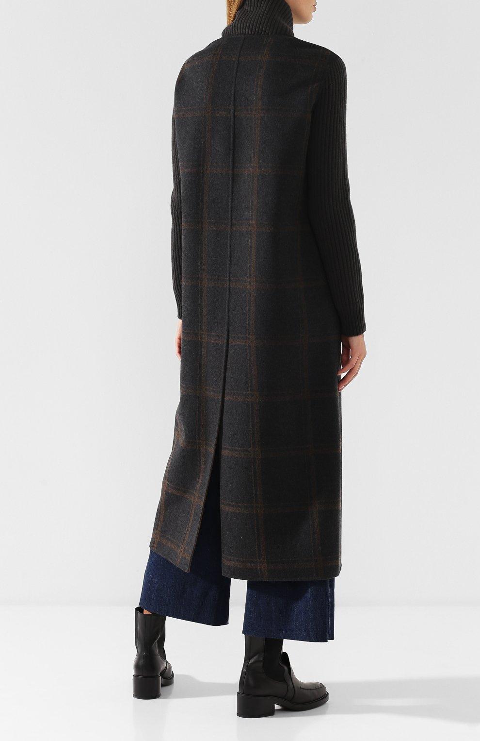 Женское кашемировое пальто на молнии LORO PIANA темно-серого цвета, арт. FAI2068   Фото 4