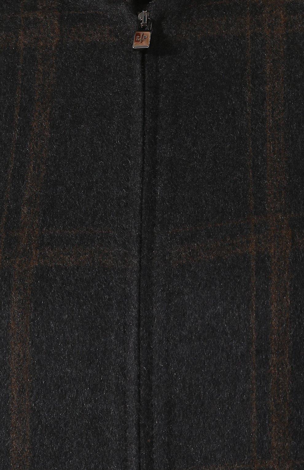 Женское кашемировое пальто на молнии LORO PIANA темно-серого цвета, арт. FAI2068   Фото 5