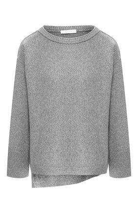 Пуловер из смеси шерсти и кашемира Cruciani серый | Фото №1