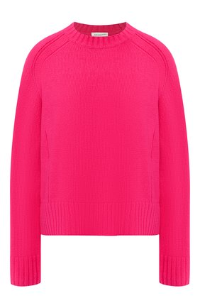 Шерстяной пуловер с круглым вырезом By Malene Birger фуксия   Фото №1