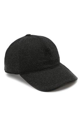 Мужской шерстяная бейсболка с логотипом бренда CORNELIANI серого цвета, арт. 820332-8829205/00 | Фото 1