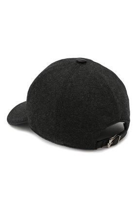 Мужской шерстяная бейсболка с логотипом бренда CORNELIANI серого цвета, арт. 820332-8829205/00 | Фото 2