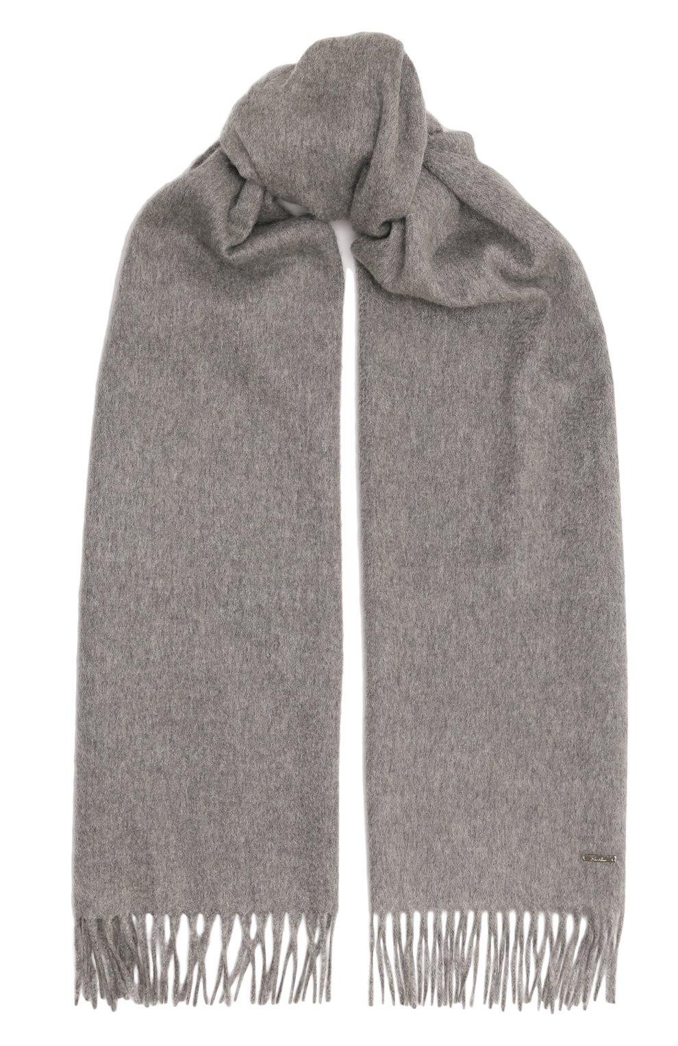 Женский кашемировый шарф grande unita LORO PIANA серого цвета, арт. FAA1056   Фото 1 (Материал: Кашемир, Шерсть; Статус проверки: Проверена категория)