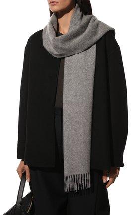 Женский кашемировый шарф grande unita LORO PIANA серого цвета, арт. FAA1056   Фото 2 (Материал: Кашемир, Шерсть; Статус проверки: Проверена категория)