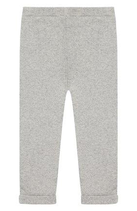 Детские брюки из смеси хлопка и кашемира TARTINE ET CHOCOLAT серого цвета, арт. TM22021/1M-18M | Фото 2 (Статус проверки: Проверено, Проверена категория; Материал внешний: Хлопок)