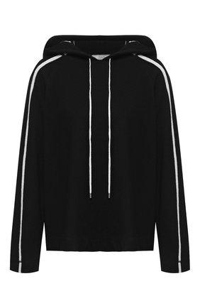 Вязаный пуловер с капюшоном Tak.Ori черный | Фото №1