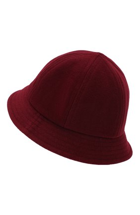 Шляпа из шерсти A.T.T. бордового цвета | Фото №2