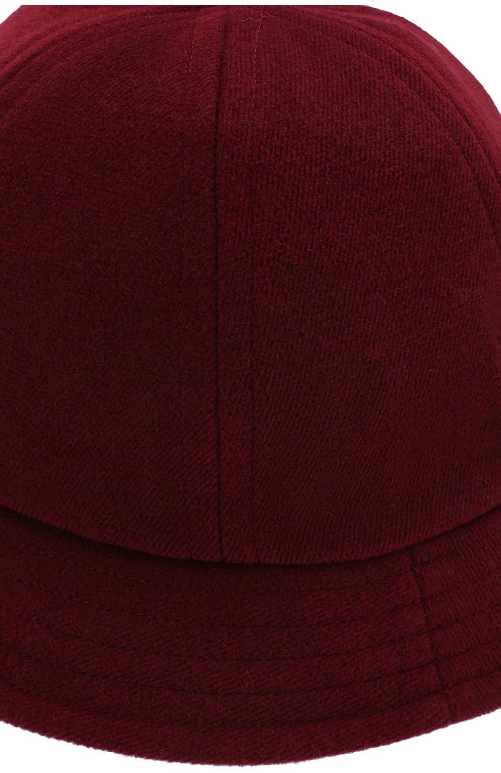 Шляпа из шерсти A.T.T. бордового цвета | Фото №3