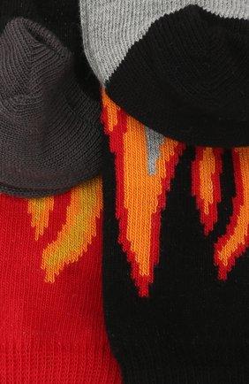 Детские комплект из двух пар носков Stella McCartney черного цвета | Фото №2