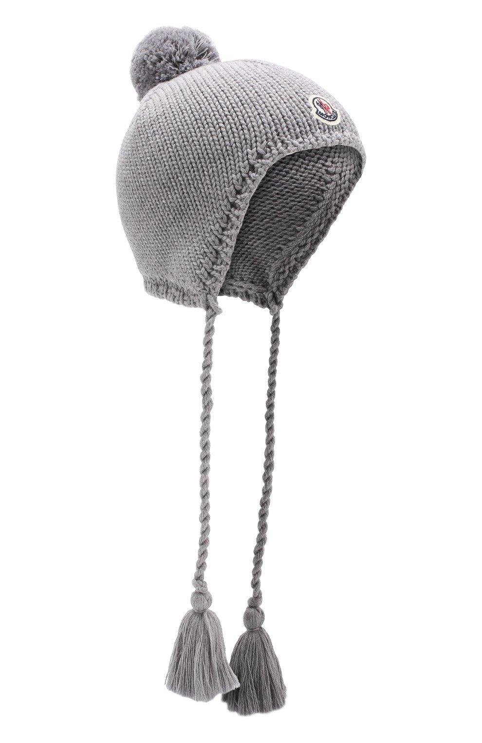 Шерстяная шапка с кисточками   Фото №1
