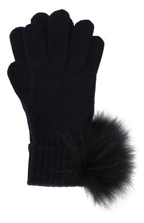 Шерстяные перчатки с помпоном | Фото №1