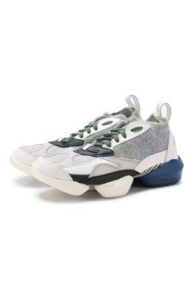 Текстильные кроссовки 3D OP. Fractional на шнуровке Reebok разноцветные   Фото №1