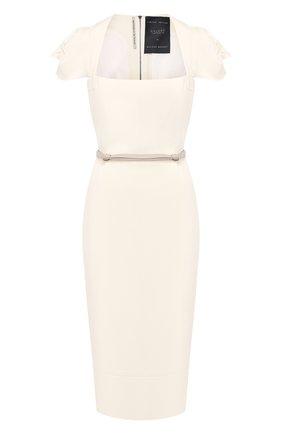 Шерстяное платье с поясом Roland Mouret белое   Фото №1
