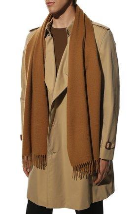 Мужской кашемировый шарф LORO PIANA светло-коричневого цвета, арт. FAB9149 | Фото 2