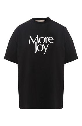 Хлопковая футболка с надписью Christopher Kane черная | Фото №1