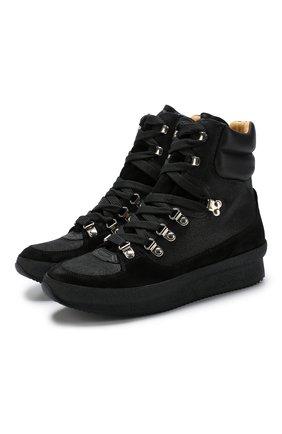 Высокие комбинированные кроссовки Brendta на шнуровке | Фото №1