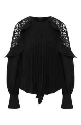 Блуза со складками и кружевными вставками | Фото №1