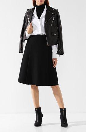 Хлопковая юбка на молнии Proenza Schouler черная | Фото №1