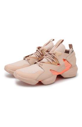 Комбинированные кроссовки 3D OP. Lite на шнуровке Reebok бежевые   Фото №1