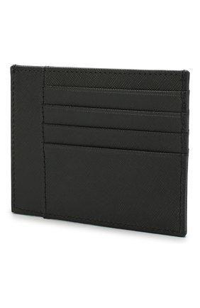 Мужской кожаный футляр для кредитных карт CORNELIANI черного цвета, арт. 00TP02-0021811/00   Фото 2