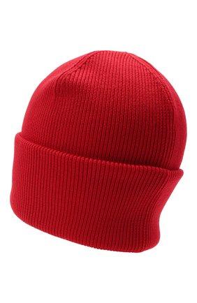 Мужская шерстяная шапка CANADA GOOSE красного цвета, арт. 6936M   Фото 2 (Материал: Шерсть; Кросс-КТ: Трикотаж)