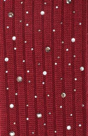 Детские гольфы из смеси шерсти и шелка LA PERLA бордового цвета, арт. 48860H/10-12 | Фото 2