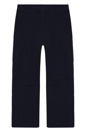 Хлопковые брюки с лампасами Ermanno Scervino серого цвета | Фото №1