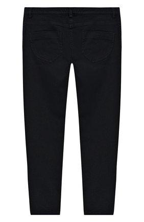 Детские джинсы с вышивкой Ermanno Scervino синего цвета | Фото №1