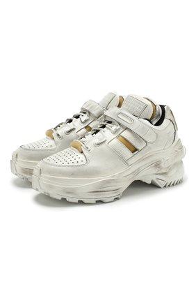 Кожаные кроссовки Retro Fit на шнуровке | Фото №1