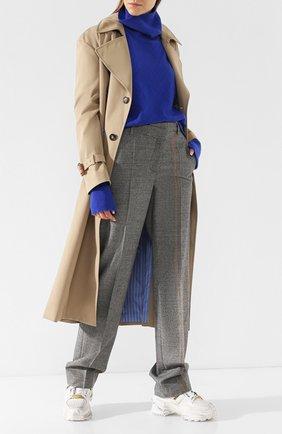 Женские кожаные кроссовки retro fit на шнуровке MAISON MARGIELA белого цвета, арт. S39WS0037/P2082 | Фото 2
