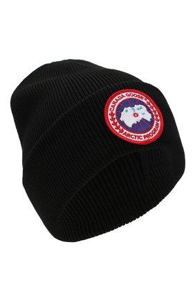 Шерстяная вязаная шапка с логотипом бренда | Фото №1