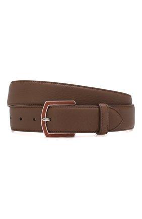 Мужской кожаный ремень LORO PIANA коричневого цвета, арт. FAI2754 | Фото 1
