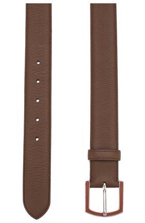 Мужской кожаный ремень LORO PIANA коричневого цвета, арт. FAI2754 | Фото 2