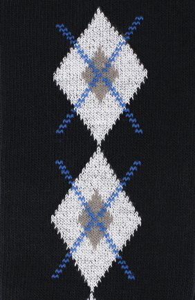 Детские хлопковые гольфы LA PERLA темно-синего цвета, арт. 47174/3-6 | Фото 2