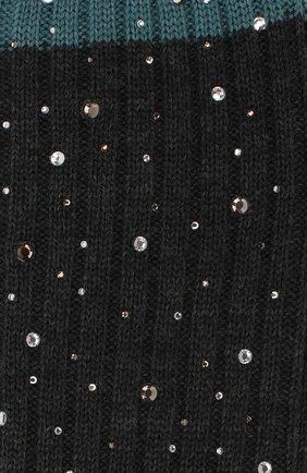 Детские гольфы из смеси шерсти и шелка LA PERLA серого цвета, арт. 48860H/7-9 | Фото 2