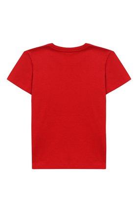 Детский хлопковая футболка с логотипом бренда GUCCI красного цвета, арт. 497845/X3L91 | Фото 2