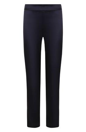 Женские укороченные брюки прямого кроя с завышенной талией ST. JOHN темно-синего цвета, арт. K880W40 | Фото 1