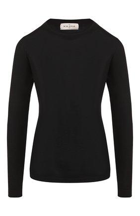Кашемировый пуловер с круглым вырезом | Фото №1