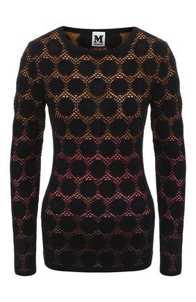 Вязаный пуловер в круглым вырезом   Фото №1