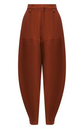 Женские укороченные шерстяные брюки CHLOÉ светло-коричневого цвета, арт. CHC18WPA75067 | Фото 1