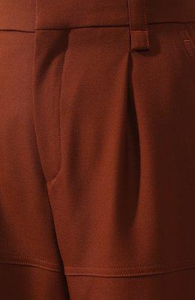 Женские укороченные шерстяные брюки CHLOÉ светло-коричневого цвета, арт. CHC18WPA75067 | Фото 5