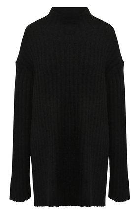 Вязаный пуловер с высоким воротником By Malene Birger черный   Фото №1