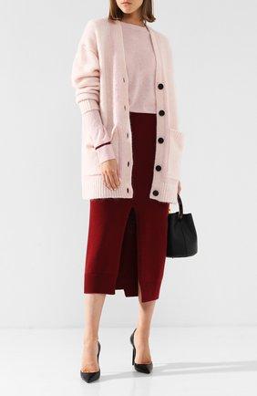 Шерстяной пуловер с контрастной отделкой By Malene Birger светло-розовый   Фото №1