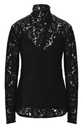 Женская кружевная блуза с воротником-стойкой By Malene Birger, цвет черный, арт. Q65839005/KEMMAH в ЦУМ   Фото №1