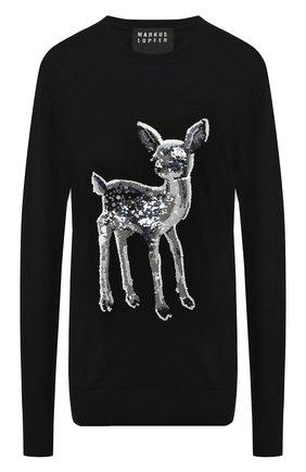Шерстяной пуловер с пайетками | Фото №1
