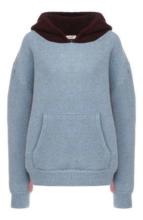 Шерстяной пуловер с капюшоном | Фото №1