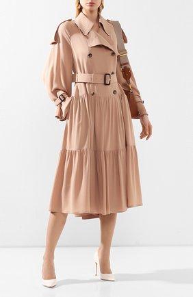 Женская кожаные туфли romy 100 JIMMY CHOO белого цвета, арт. R0MY 100/PAT | Фото 2