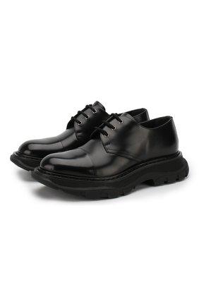 Кожаные дерби на шнуровке | Фото №1