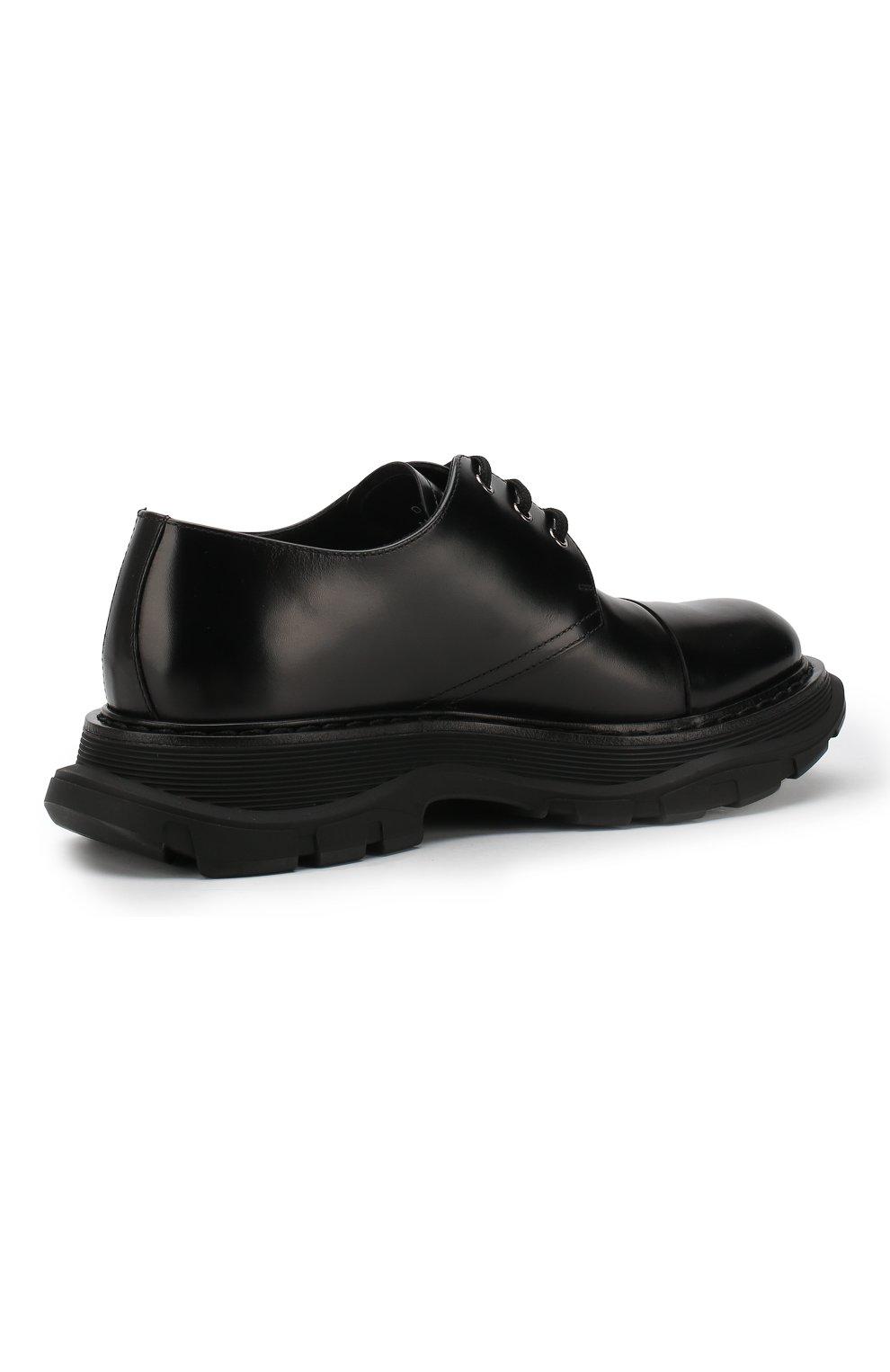 Кожаные дерби на шнуровке   Фото №4