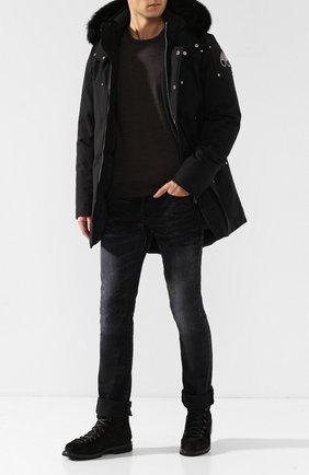 Мужская пуховая парка stirling MOOSE KNUCKLES черного цвета, арт. MK4661MP | Фото 2